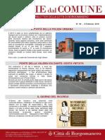 Notizie Dal Comune di Borgomanero dell'8 Febbraio 2019