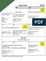 february calendar 18-19 ap stats pdf