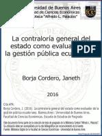 Contraloria Evaluadora de La Gestion Publica Ecuatoriana