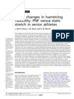 Acute Changes in Hamstring Flexibility PNF Versus Static Stretch in Senior Athletes