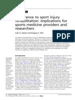 Adherence to Sport Injury Rehabilitation