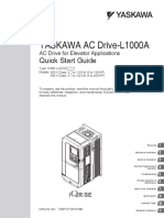 Yaskawa L1000A Quick Start Guide TOEPC71061638