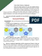 DNA 1 - Revisão Ácidos Nucleicos e Replicação
