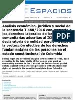 Análisis de Sentencia, Derechos Fundamentales, Scopus, 2018