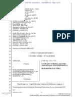 Apple vs Fundamental Innovation Systems International, Complaint for Declatory Judgement of Non-Infringement