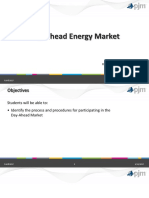 Day Ahead Market Generation Schedules and Parameters