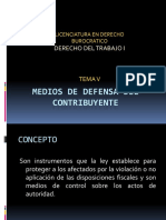 MEDIOS DE DEFENSA DEL CONTRIBUYENT DERECHO PROCESAL FISCAL.pptx