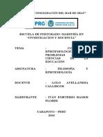 Año de La Consolidación Del Mar de Graú - Maestria
