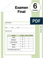 6to Grado - Examen Final