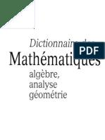 Dictionnaire Des MATHEMATIQUES