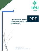 Actividad de Aprendizaje 4 Características de Empresas Competitivas.