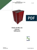 diseño de muros de corte en edificaciones.