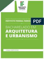 Lic ArquiteturaeUrbanismo SR SET2018