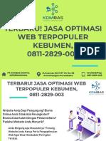 Terbaru! Jasa Optimasi Web Terpopuler Kebumen, 0811-2829-003