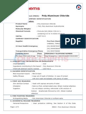 Poly Aluminium Chloride | Aluminium | Chemical Substances