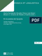 Studia Romanica Et Linguistica 47- Marta Fernández Alcaide, Elena Leal Abad, Álvaro S. Octavio de Toledo y Huerta
