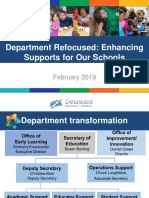 Delaware Department of Education FY2020 Budget Request