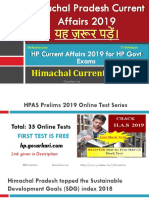 Himachal Pradesh Current Affairs for HPPSC HPAS and Other HP Govt Exams