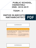 maths in architecture