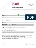 Auditions Registration Form