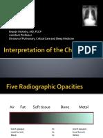 Interpretation chest x ray