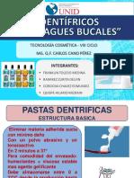 Dentifricos y enjuagues bucales