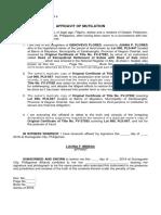 Affidavit of lOSS Tiltle-  Lucina F. Mindac.docx