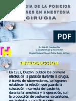 Diapositivas de Posiciones en Anestesia