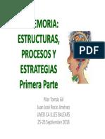 2. La Memoria. Estructuras, Procesos y Estrategias 1