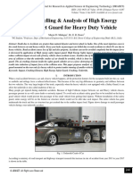 Design, Modelling & Analysis of High Energy Safety Impact Guard for Heavy Duty Vehicle