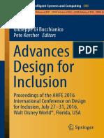 Bucchianico - Advances in Design for Inclusion