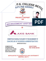 A project on Recruitment and selection in Axis Bank