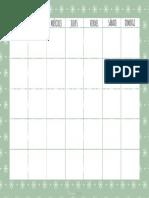 Planificador Mensual Es