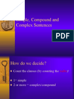 Lang - Simple, Compound & Complex Sentences (JB)