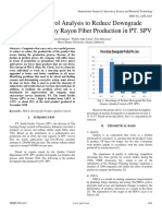 Quality Control Analysis to Reduce Downgrade Product in Viscosy Rayon Fiber Production in PT. SPV