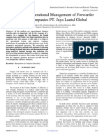 Analysis of Operational Management of Forwarder Service Companies PT. Jaya Lautal Global