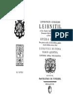 Leibniz Opera Omnia V