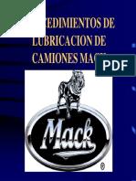 Mack. Procedimiento de Lubricacion de Mack