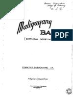BUENCAMINO F Sr - Maligayang Bati
