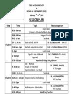 DOE Session Plan