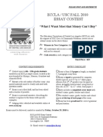 Fall Essay Flyer