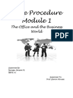 My Module Office and the Business World