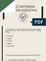 Quiz Anfisman Sistem Pencernaanjj