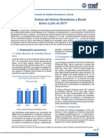 Avance Preliminar Economico y Social - Panama-Julio 2017