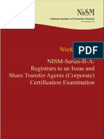 Nism Series II a Registrar to an Issue Exam Workbook