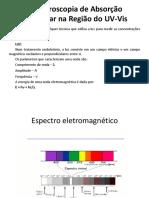 Espectroscopia de Absorção Na Região Do UV-Vis