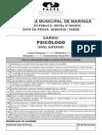Maringa 09 2018 Prova 06 24 Prova Psicologo