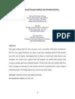 CSR Dan Dividend Policy