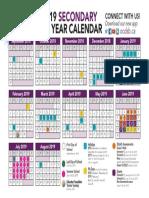 School Year Calendar Secondary 2018-2019