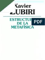Estructura de la Metafísica_Zubiri
